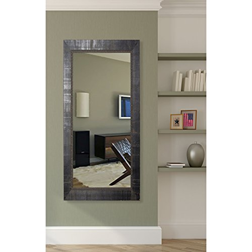 American Made Rayne Tuscan Ebony 29.5 x 64.5 Floor Mirror (Mirror Lean Wall Against Large)