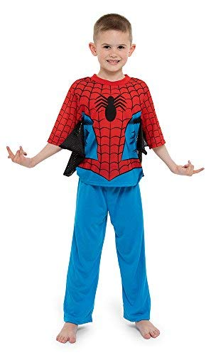 Spiderman Boys' Little 2-Piece Uniform Set with Webbing, Webby Red, 6