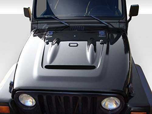 Extreme Dimensions Duraflex Replacement for 1997-2006 Jeep Wrangler Heat Reduction Hood (fits All Models Without Highline fenders) - 1 - Dimensions Kit 98 Extreme