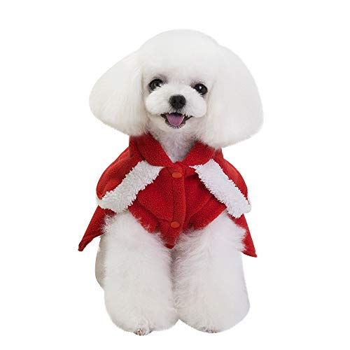 Geetobby Christmas Pet Dress Hoddies Dog Cat Winter Warm Coat Costume Apparel