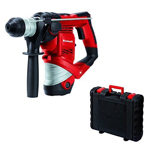 Einhell Bohrhammer TC-RH 900 (900 W, 3 J, Bohrleistung in Beton Ø 26 mm, SDS-Plus-Aufnahme, Metall-Tiefenanschlag, Koffer)