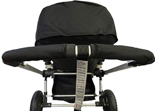 Black Sun Shade Canopy with Wires and Under Seat Storage Basket Plus Free Handle Bar Covers for Bugaboo Cameleon 1, 2, 3, Frog Baby Child Strollers by Ponini (Image #2)