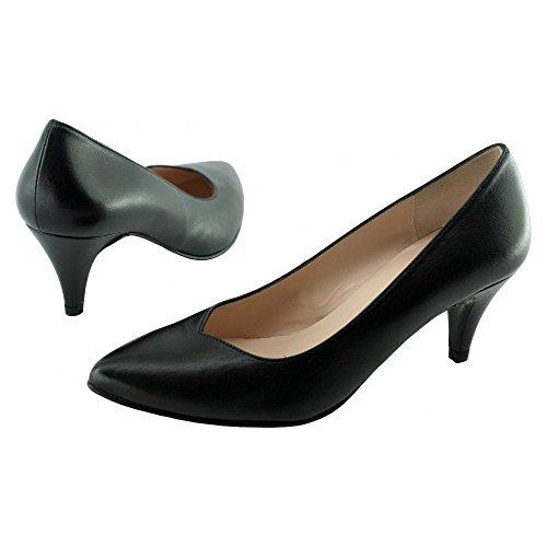 Talon Tailles C Tendances YVES Cuir Noir Femme Pointu Marque Escarpin Karine BEAUMOND Pointures noir DE Petites Petit Chaussures pBqpYS