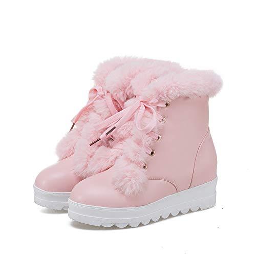 Winter Shoes Brand Women Shoes Women Winter Boots Mid Calf Boots Plus Size 9 ()