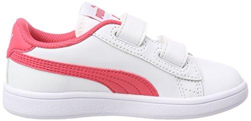 Puma Smash V2 L V PS, Zapatillas Unisex Niños Blanco (Puma White-paradise Pink)