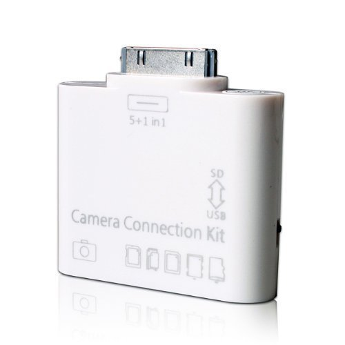 USBKIT182 5-in-1 Camera Connection Kit USB SD/TF Card Reader for iPad or iPad 2 3, White by Unknown