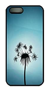 Dandelion HAC1014151 Custom PC Hard For Iphone 5/5S Phone Case Cover Black