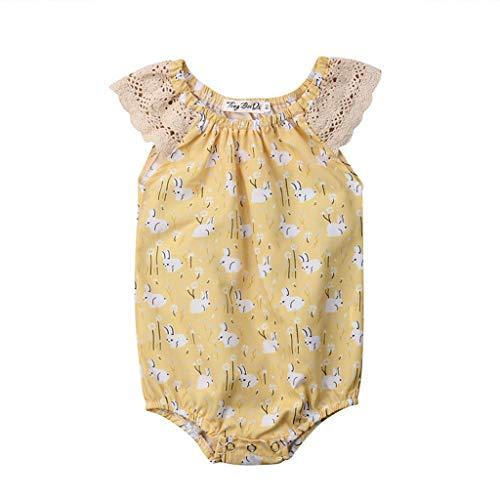(B. Bone Baby Girls Clothes Animal Print Ruffle Sleeveless Bodysuit Round Neck Cotton Lovely Kids Toddler Tops(Multi,9M))