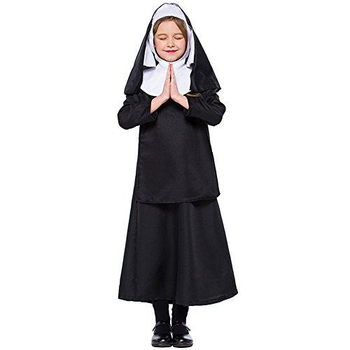 Little Girls' Nun Costume Halloween Cosplay Fancy Dress Costume (6-8) ()
