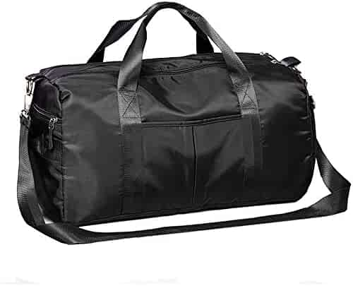 Wet and Dry Separation Large-Capacity Travel Bag Black Size: 502526cm Travel Duffel Bag for Men and Women ZHICHUANG Fitness Bag Male Outdoor Training Bag