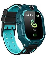 Smartwatch för barn, OURLITIME smartklocka för barn, SOS samtalsmätare anti-förlorade pojkar flickor armbandsur positionering chatt för pojkar flickor