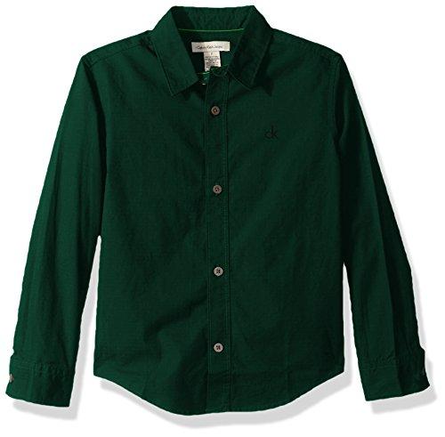 Green Button Down Collar - 4