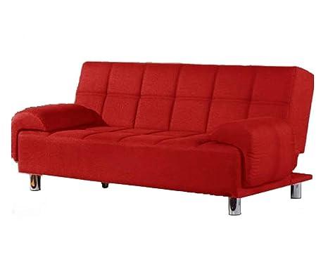 Divano Rosso Ecopelle : Frizzo divano letto 200x99cm ecopelle 3 posti reclinabile imbottito