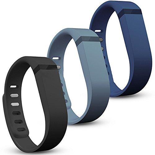 4 opinioni per Genmine® 3 Pcs Cinturini per Fitbit Flex in Silicone Morbido, Bracciale di
