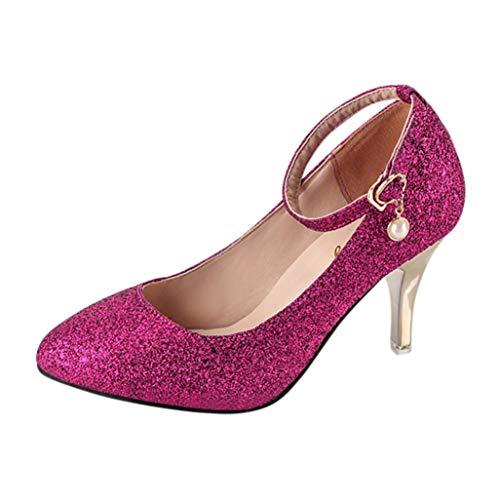 à Chaussures Femme Talons S Bout Solides Printemps Bureau Violet à amp;H De NEEDRA Talons Pointu Hiver Automne Hauts Sandales Bureau Sangles axqngwYEq