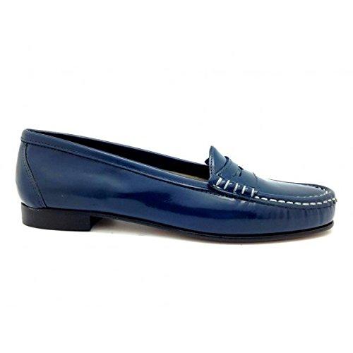 Castellano® 1920 Madrid - Mocasín Color Azul Marino para Mujer: Amazon.es: Zapatos y complementos
