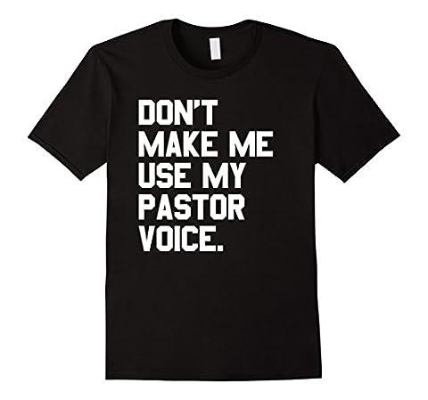 Mens Pastor T-Shirt funny Religious Christian XL Black (Funny Pastor Gifts)