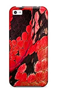 Iphone 5c Case Cover - Slim Fit Tpu Protector Shock Absorbent Case (red Snake) by supermalls