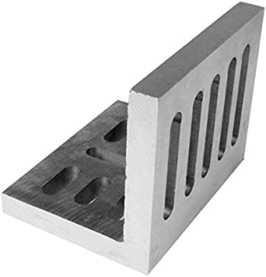 6 x 5 x 4-1//2 Inch Ground Angle Plate Webbed End Precision Steel Ground
