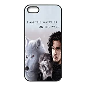 Cool Customized Game of Thrones Night Watch Jon Snow Iphone 5 5s Case Cover ,Rubber Shell Hard Back Cases Gift Idea At CBRL007 by runtopwell
