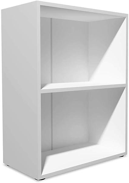 vidaXL Estantería 60x31x78 cm Madera Blanca Repisas Estante Mueble Organizador