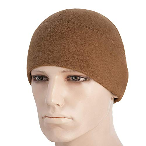 Fleece Brown Beanie - M-Tac Watch Cap Fleece 260 Slimtex Mens Winter Hat Military Tactical Skull Cap Beanie (Large, Coyote Brown)