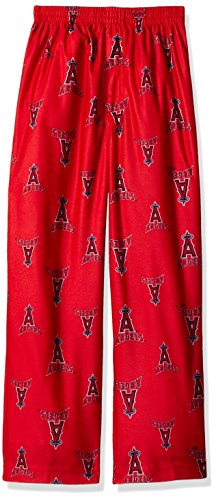 Outerstuff MLB Los Angeles Angels Boys 4-7 Sleepwear All Over Print Pants, Large (7), Athletic Red