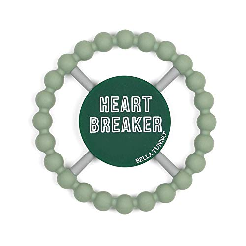 Bella Tunno Teether, Heart Breaker, Green