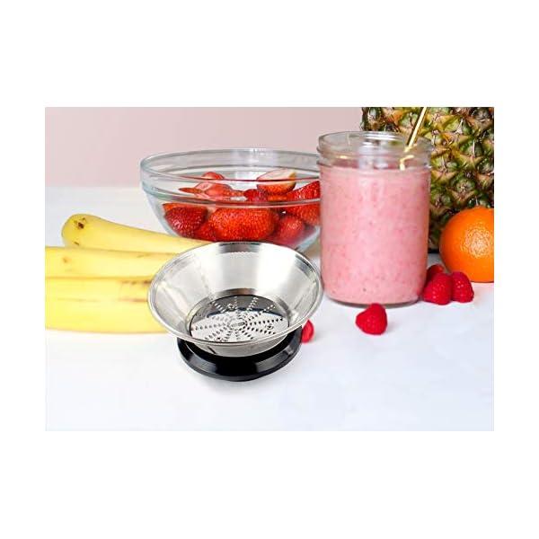 PRIXTON - Estrattore Frutta Verdura/Centrifuga Frutta e Verdura Professionale/Estrattore di Succo a Freddo, 600W, Lame… 6 spesavip