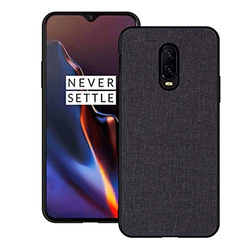 - OnePlus 6TCase CJ Sunshine OnePlus 6T Mobile Phone Shell with Fabric Back Cover All-Inclusive Shatter-Resistant Hard Shell Silicone Soft Edge Case(Black)