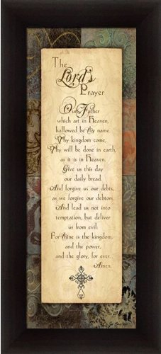 Lord's Prayer by Jo Moulton Inspirational Sign Art Print Framed Picture - Moulton Art Print Poster