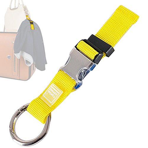 AVESON Add-A-Bag Gepäckband, Gepäckgurte, Reisezubehör - Macht Ihre Hände frei, und ermöglicht es Ihnen, Ihre zusätzlichen Beutel zu tragen, schwarz Gelb