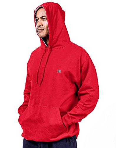 (Champion Fleece Pullover Hoodie, Crimson Red, 3XL)