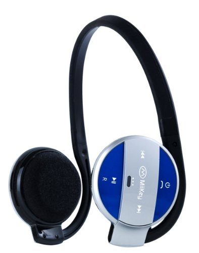 Amazon Lightning Deal 57% claimed: MIIKEY Wireless MiiSport Stereo Bluetooth Headphones for iPhone - Bluetooth Headset - Retail Packaging - Blue