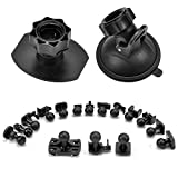 Wikkiv Suction Cup Mount Holder Dash Cam Mount Glue Double-Sided Adhesive Mount, Come with 15+ Swivel Ball Adapters for Rexing V1, Z-Edge, Roav, AUKEY, Old Shark, YI, UGSHD and Most Dash Cameras