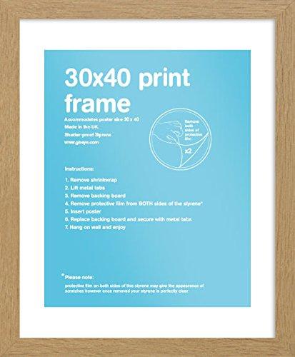 GB eye FMSEA1OK Oak Wooden Art Print Poster Frame 30 X 40cm GB eye Ltd