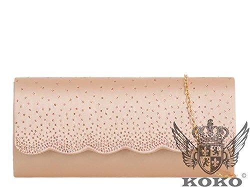 champagne Pochette pour moyen femme Hautefordiva Red xwTqnR0Cq