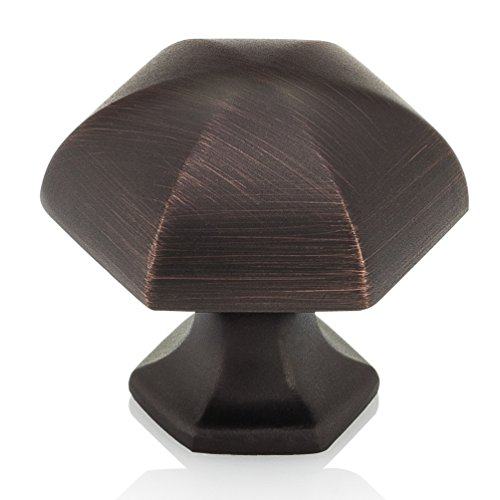 Southern Hills Oil Rubbed Bronze Cabinet Knobs - Pack of 5 - Kitchen Cupboard Knobs Cabinet Hardware - Drawer Pulls SHKM023-ORB-5 by Southern Hills