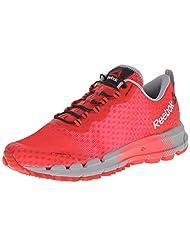 Reebok Womens All Terrain Thunder 2.0 Running Shoe, Red Rush/Poppy Red/Neon Cherry/Flat Grey, 8 M US