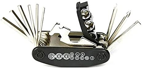 15 in 1 Motorcycle Repairing Tool Portable Folding Key Kit Hex Spoke Screwdriver