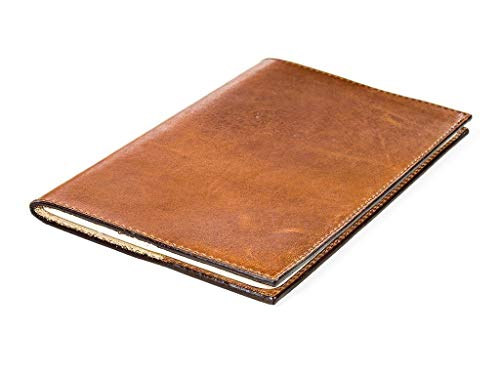 Journal made of Horween Leather with Moleskine Cahier refills Pocket size 3.5 x 5.5