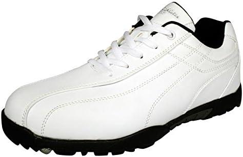 LEZAX メンズ ゴルフ シューズ US athlete ユーエスアスリート ゴルフ スパイクレス USSH-5551 ホワイト