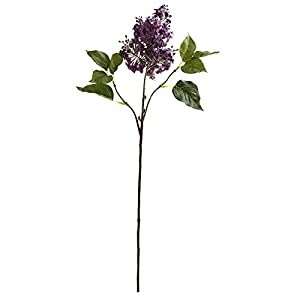 "Nearly Natural 2148-S6-PP 30"" Lilac Flower (Set of 6) Artificial Plant, Purple 15"