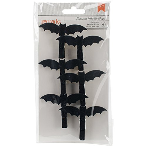 American Crafts Halloween Bat Clothespins 6 Pieces]()