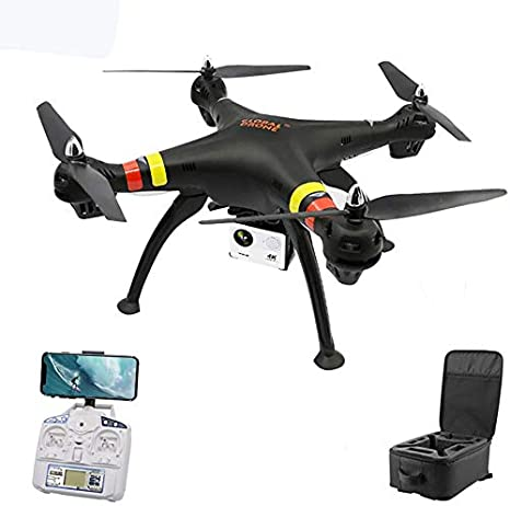 Smlie Drone Professional WiFi FPV 1080P HD cámara Gran Angular Cuadricóptero Plegable GPS Seguimiento de posicionamiento ultrasónico Motor sin escobillas batería Modular, Negro: Amazon.es: Deportes y aire libre