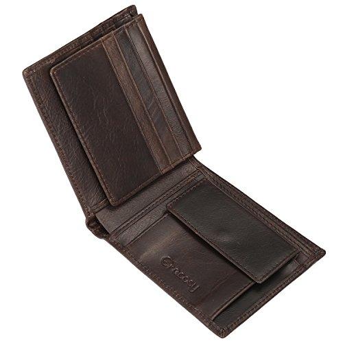 Cuir Blocage Avec Grand Pack Léger Cadeau Idée Slim Capacité Noir Marron Rfid Monnaie Boîte Crédit En Gracosy Carte Cadeau Pour Portefeuille Bleu Porte Homme 7p0HAcqX