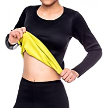 41a95897ffa Ausom Womens Sweat Body Shaper Long Shirt Hot Thermo Slimming Sauna Suit  Weight Loss Black Shapewear