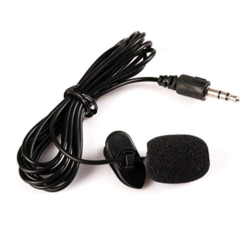 Blackzone 3.5mm Lapel Clip On Handsfree Wired Microphone Lavalier Mic for PC Loudspeaker Accessory Black