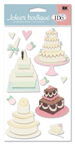 Jolee's Boutique Grande Wedding Cake, Dimensional Stickers