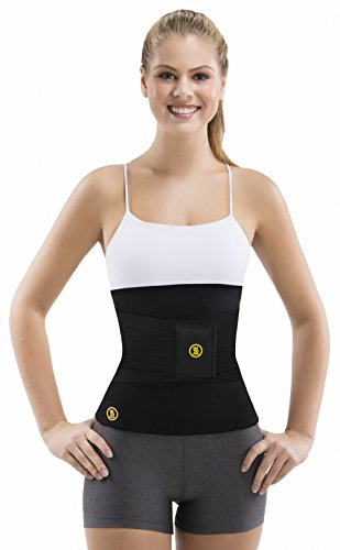 Women's Hot Belt with Waist Trainer by Hot Shapers – Slimming Activewear Compression Belt for Thermal Calorie Burn (Black, Small)